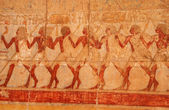Picture in the temple of Queen Hatshepsut (Egypt) — Stockfoto