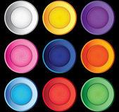 Vortex buttons set — Wektor stockowy
