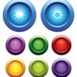 Brightness up-down button set. — Stock Vector #8771616