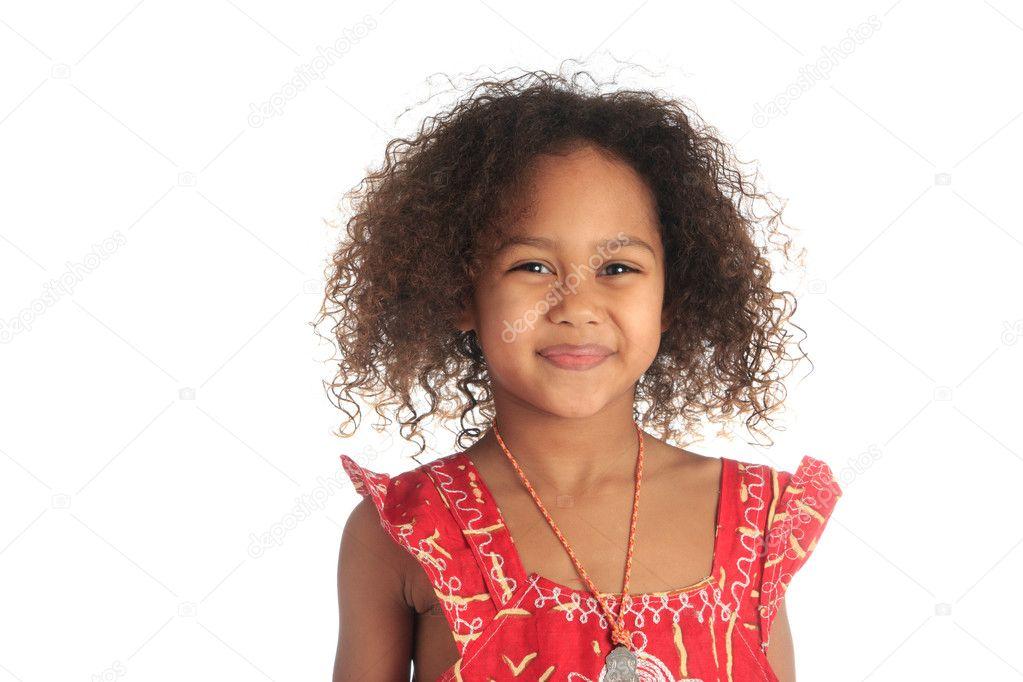 Cheveux bouclés fille noire