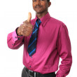 Afro american businessman with a tie isolated — Stock Photo #9389668