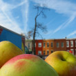 Stock Photo: Apples in City