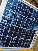 Blue Solar Panel In The Sunlight — Stock Photo