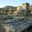Tombs in ruins of ancient city Hierapolis — Stock Photo #10171832