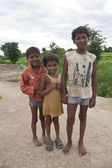 Unidentified local village children — Stock Photo