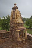 One of the temples of the western group in Khajuraho — Stock Photo