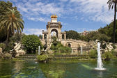 Fountain cascade in Barcelona — Stock Photo