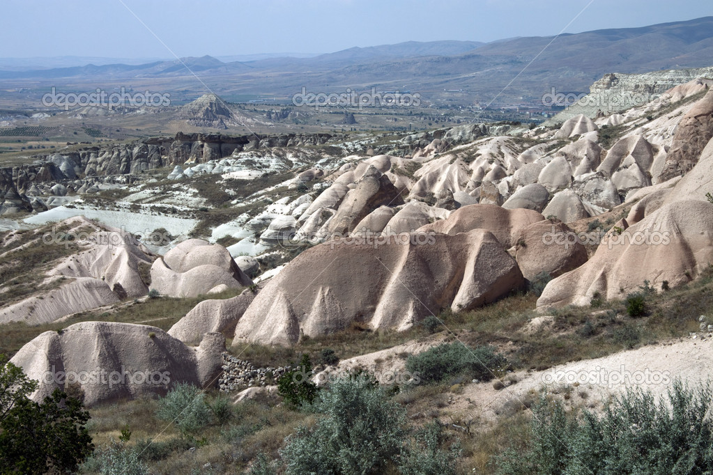 Unusual landscape of Cappadocia, Turkey, Asia — Stock Photo #8714889
