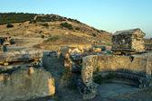 Ruins of ancient city Hierapolis — Stock Photo