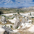 Unusual volcanic landscape in Cappadocia — Stock Photo
