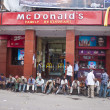 Stock Photo: Fast food restaurant in Delhi