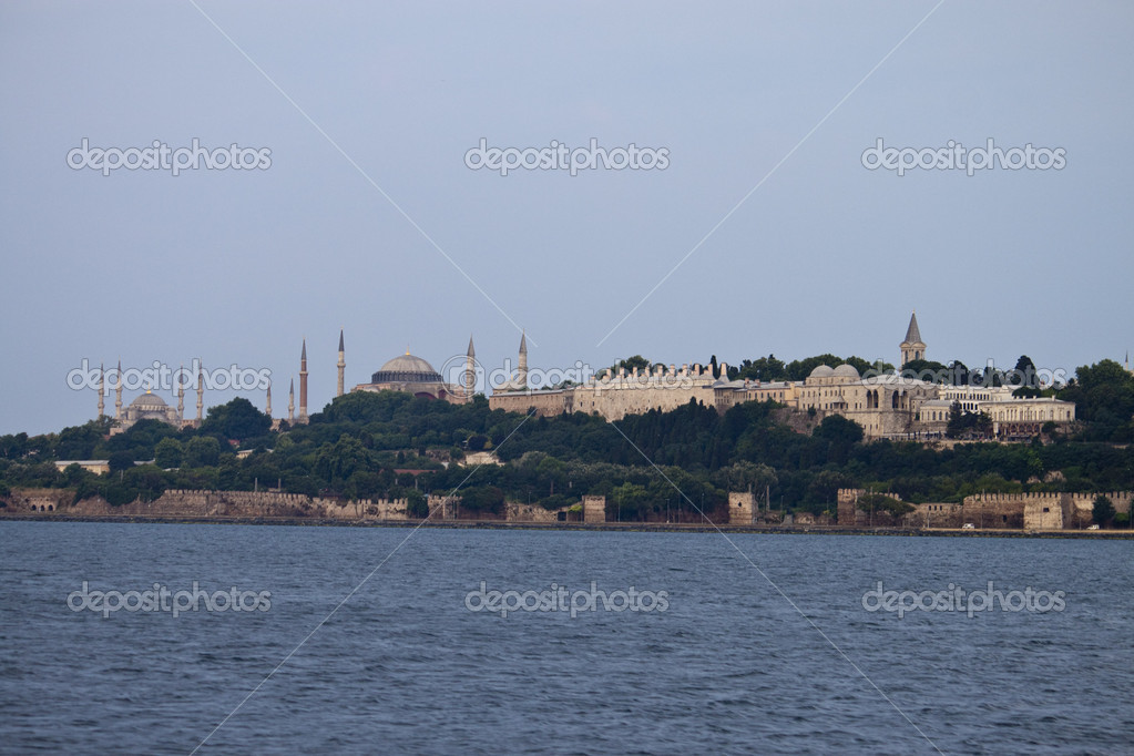 Istanbul skyline with mosques, Turkey — Stock Photo #9302693