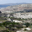 Stock Photo: Unusual volcanic landscape in Cappadocia