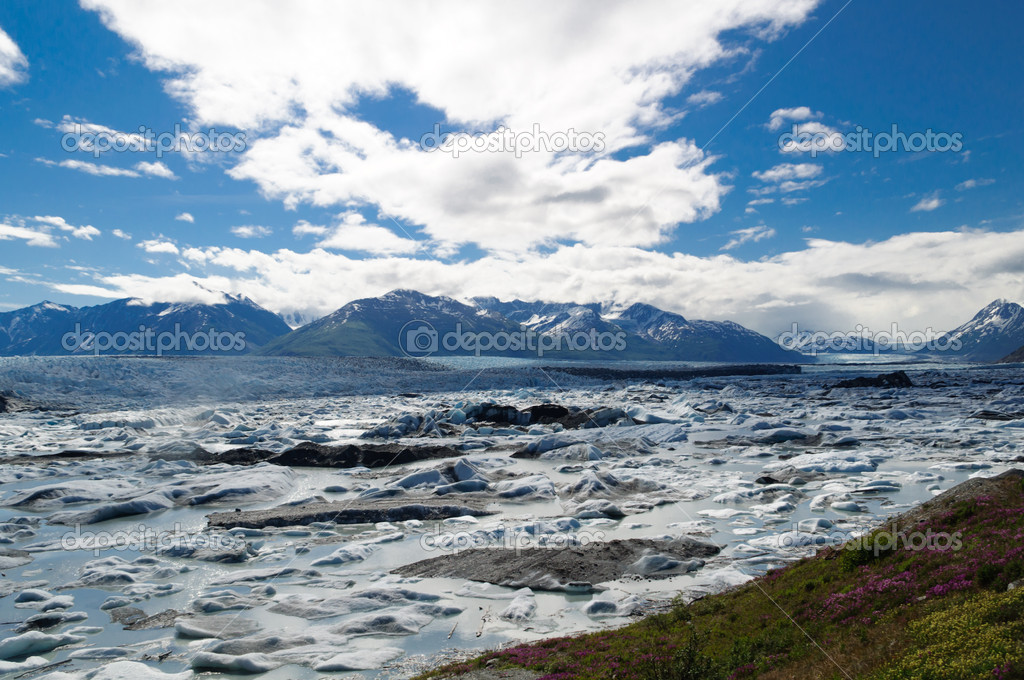 Spring 2011 picture taken of Knik Glacier, Alaska.   Stock Photo #8933383