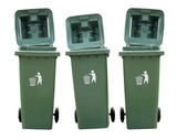 Recycle Bins Isolated — Stock Photo
