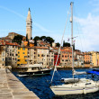 Medieval City of Rovinj and Saint Euphemia Cathedral, Croatia — Stock Photo