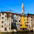 Medieval City of Rovinj and Saint Euphemia Cathedral, Croatia — Stock fotografie