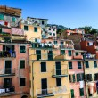 Washing Lines with Clothes in Riomaggiore, Cinque Terre, Italy — Stock Photo