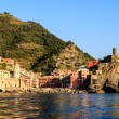 Stock Photo: Sunset in Village of Vernazzin Cinque Terre, Italy