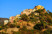 Sunset in the Village of Corniglia in Cinque Terre, Italy — Stock Photo