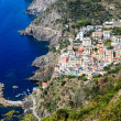 Aerial View of Riomaggiore in Cinque Terre, Italy — Stock Photo