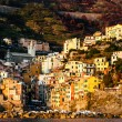 Sunset in the Village of Riomaggiore in Cinque Terre, Italy — Stock Photo
