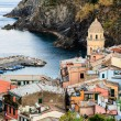 Stock Photo: Medieval Church in Village of Vernazza, Cinque Terre, It