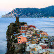 Stock Photo: Medieval Castle in Village of Vernazza, Cinque Terre, It