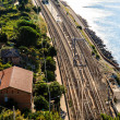 Railway Station in the Village of Corniglia, Cinque Terre, Italy — Stock Photo