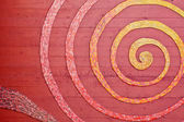 Mosaic Spiral on the Wall — Stock Photo