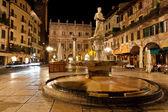 Piazza delle Erbe in Verona — Stock Photo