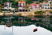 Boat and the Town Ploce — Foto de Stock
