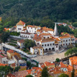 Sintra National Palace near Lisbon in Portugal, View from Above - Stock Photo