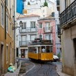 Classic Yellow Tram in Lisbon, Portugal — Stock Photo #8733024