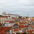 Panorama of Alfama Quarter in Lisbon, Portugal - Stock Photo