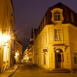 Old Street of Tallinn in the Night, Estonia — Stock Photo #8733149