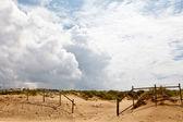 在葡萄牙里斯本附近的 guincho 海滩的栅栏 — 图库照片