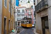 Classic Yellow Tram in Lisbon, Portugal — Stock Photo