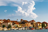 Medieval City Omis on the River Cetina in Croatia — Stock Photo