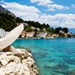 Stock Photo: Mediterranean Sea and Pebble Beach in Croatia