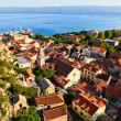 Royalty-Free Stock Photo: Panorama of Old Pirate Town Omis and Holy Spirit Church, Croatia
