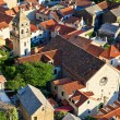 Royalty-Free Stock Photo: Panorama of Old Town Omis and Holy Spirit Church, Croatia