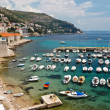Panorama of Dubrovnik Marina, Croatia - Stock Photo