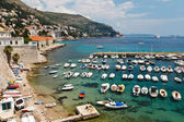 Panorama of Dubrovnik Marina, Croatia — Stock Photo