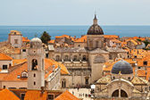 Panorama of Dubrovnik from the City Walls, Croatia — Foto de Stock