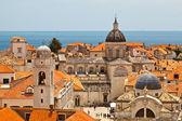 Vista panorámica de dubrovnik desde las murallas de la ciudad, croacia — Foto de Stock
