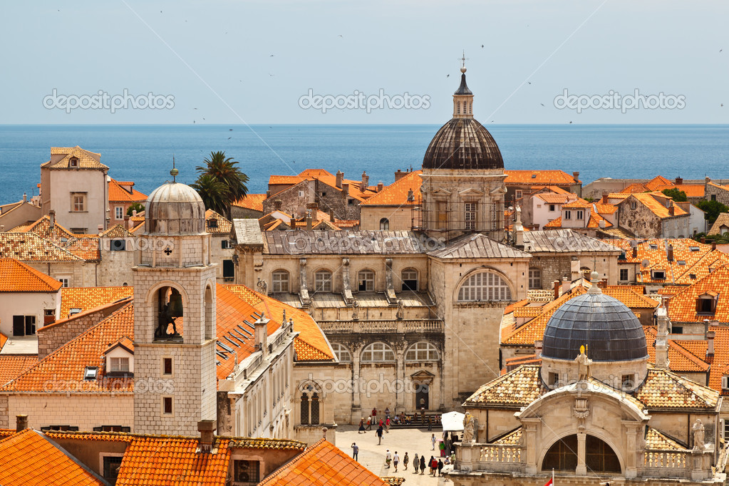 Panorama of Dubrovnik from the City Walls, Croatia  Stock Photo #8801681