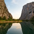Canyon of Cetina River near Omis, Croatia - Stock Photo