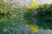Beautiful Reflection on the River near Split, Croatia — Stock Photo