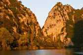 Sunset at Canyon of the River near Split, Croatia — Stock Photo